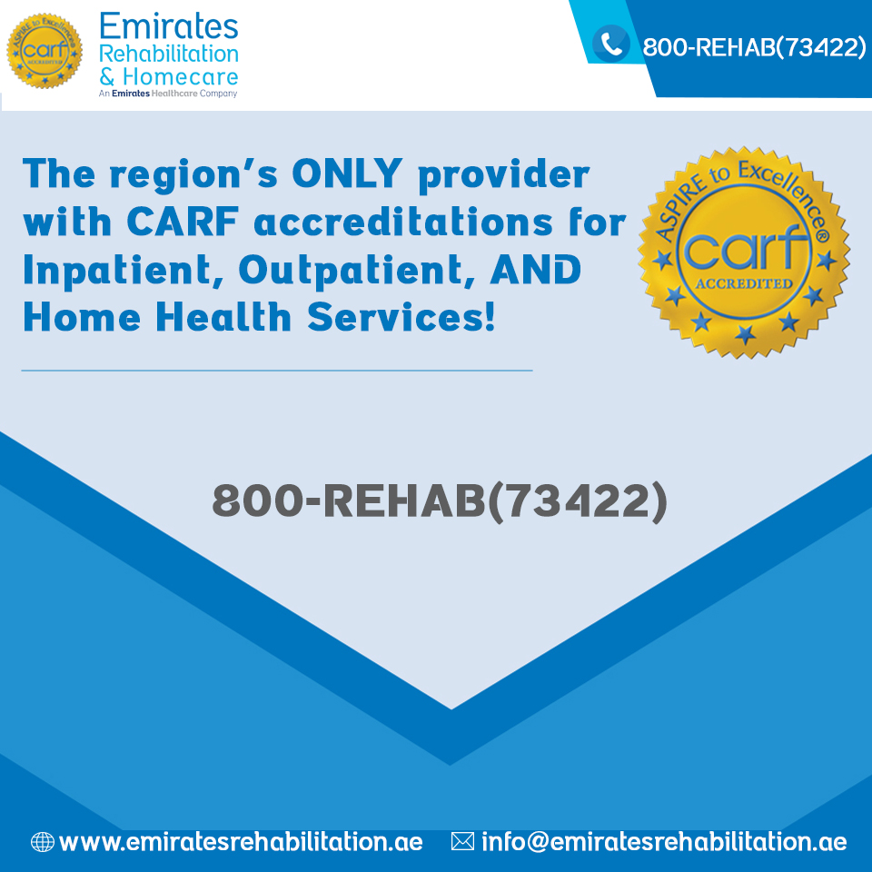 The ONLY CARF accredited inpatient, outpatient and home health care provider in the region
