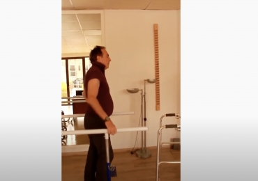 Able to walk slowly after severe spinal cord injury by instay rehabilitation center, Dubai